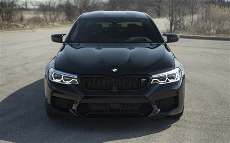 Download wallpapers BMW M5, 2018, F90, front view, LED